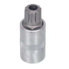 "Головка со вставкой  1/2"" SPLINE М16  L- 55 мм.с отвертием.  АД 39057"