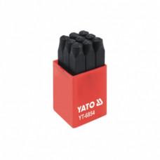 Шрифт цифровой твердосплавный  6 мм. YATO 6854