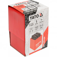 Шрифт цифровой твердосплавный  8 мм. YATO 6855