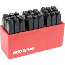 Шрифт клейм буквенных (латиница)   6мм YATO 6862