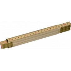 Линейка складная деревян. 2м / 24 шт.15020