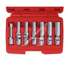 """Набор головок длинных с карданом для свечей накаливания 3/8""""(8 - 16 мм. ) 7 пр. JTC-4737"""