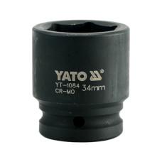 "Головка короткая ударная  * 34 мм. 3/4""   6 гр.  YATO-1084"