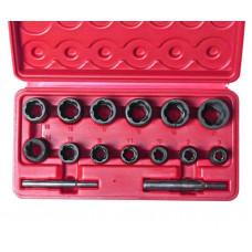 Набор головок для повреждённых болтов и гаек  8- 21 мм.  JTC-1321 S