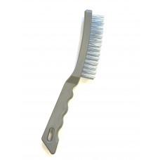Щетка металлическая  пластиковая  ручка  4 рядная   АД  44014