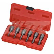 Набор экстракторов 2-10 мм.для болтов с сорванными внутренними гранями. 6пр. кейс JTC-1542