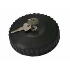Крышка Б/Б 80 мм черная металлическая с защитой и ключом KN-017  PR-0245