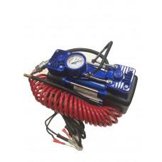 КОМПРЕССОР  двухцилиндровый со встроенным манометром 12B, 280Вт, 60 л/мин, 10атм.   620  1/6 шт.