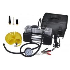 КОМПРЕССОР  двухцилиндровый со встроенным манометром  12B, 300Вт, 70л/мин, с сумкой)   АТ 00620