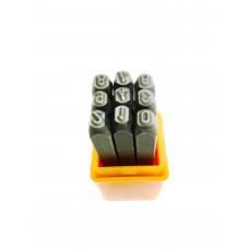 Шрифт цифровой твердосплавный  5 мм. АД 40585, ТЕХМАШ