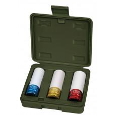 """Набор головок 1/2""""  (17, 19, 21 мм.)   L-87 мм.с пластиковым покрытием 3 шт.  ДТ 660303"""