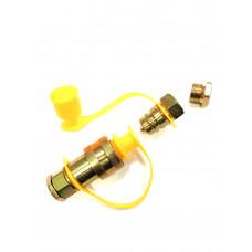 Разъем   пневмо   М16 /М22  FER-RO жёлтый  с  переходником 00904,  PR-0483 , 200255
