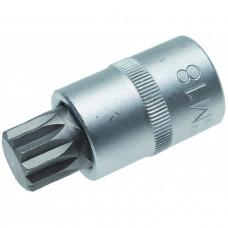 """Головка со вставкой  1/2"""" SPLINE М18  L- 55 мм.  ДТ 625418"""