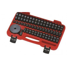 Набор оправок для выпрессовки подшипников, втулок, сальников (18-84мм.) 50 пр. JTC-4856