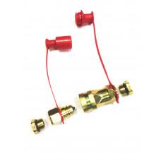 Разъем   пневмо   М16/М22  FER-RO красный с переходником 00905, PR-0482 , 200362