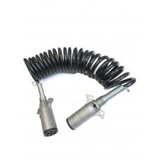 Кабель  электрический   5,5 м. черный с пружиной  PR-1282, DA-00601
