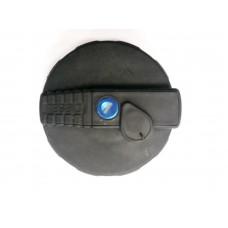 Крышка Б/Б 80 мм пластико-металлическая с защитой и клапаном KN-079   PR-0244,  DA-NP213