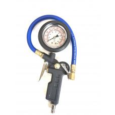 Пистолет для накачки шин с глицериновым манометром 16 атм. PR-0933