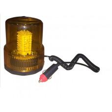 """Маяк импульсный 12V светодиодный  магнит  желтый (""""стакан"""" h=150мм, d=125MM) 01822"""
