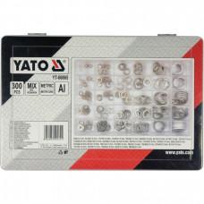 Набор алюминиевых шайб (9-36мм.)  300шт. YATO 06865