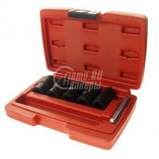 Набор головок для повреждённых болтов и гаек 19- 24 мм.  JTC-4399