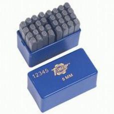 Шрифт клейм буквенных   5мм (кирилица) ТЕХМАШ 12345